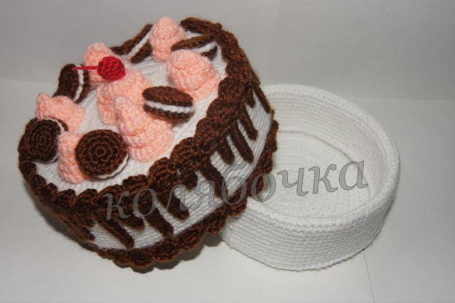 Форум почитателей амигуруми (вязаной игрушки) - Галерея - Просматривает изображение - открытый торт.JPG.