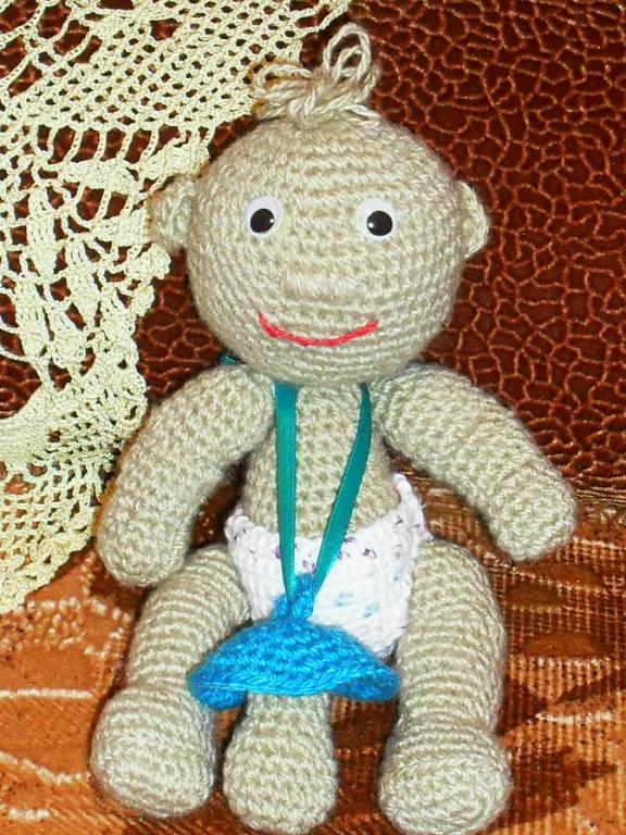 Форум почитателей амигуруми (вязаной игрушки) - Галерея - Просматривает изображение - Пупс с соской.