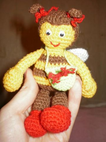 Форум почитателей амигуруми (вязаной игрушки) - Галерея - Просматривает изображение - Пчела Маша.