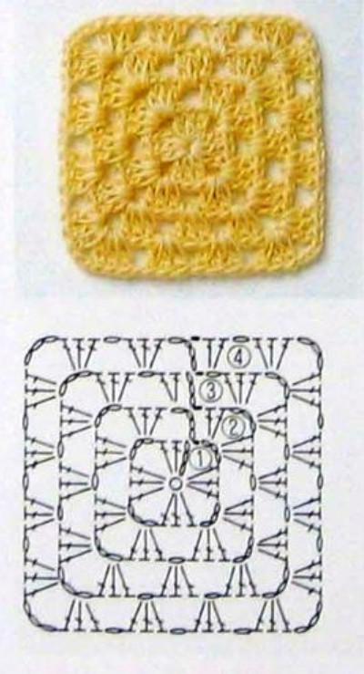 "Схема бабушкин коврик """