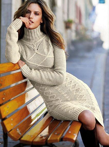 Платье вязанное спицами схемы.