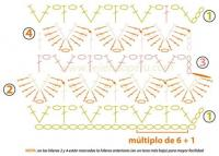 Схема узора вязания спицами чешуя. как вязать носки крючком схема.