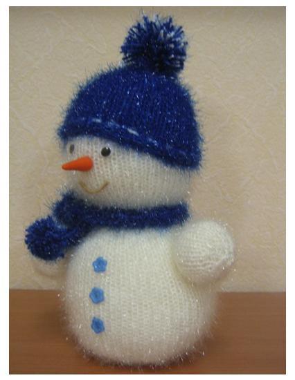 Снеговик своими руками связать